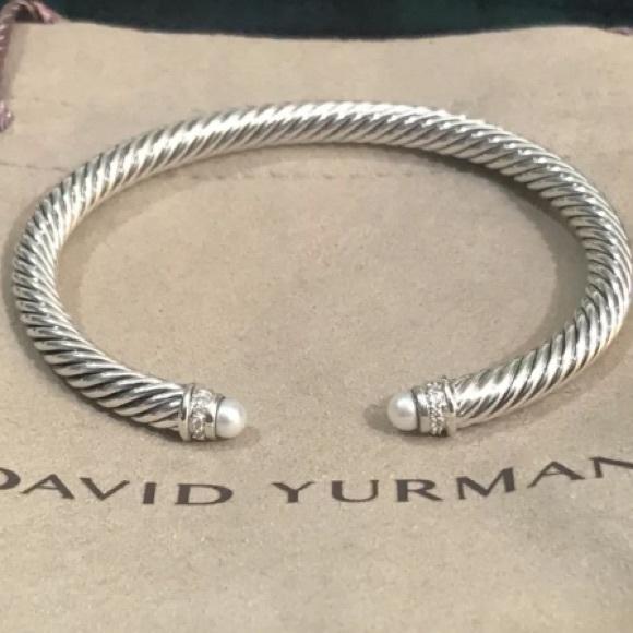 David Yurman Jewelry 5mm Diamond Pearl Bracelet Poshmark